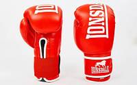 Перчатки боксерские кожаные на липучке LONSDALE