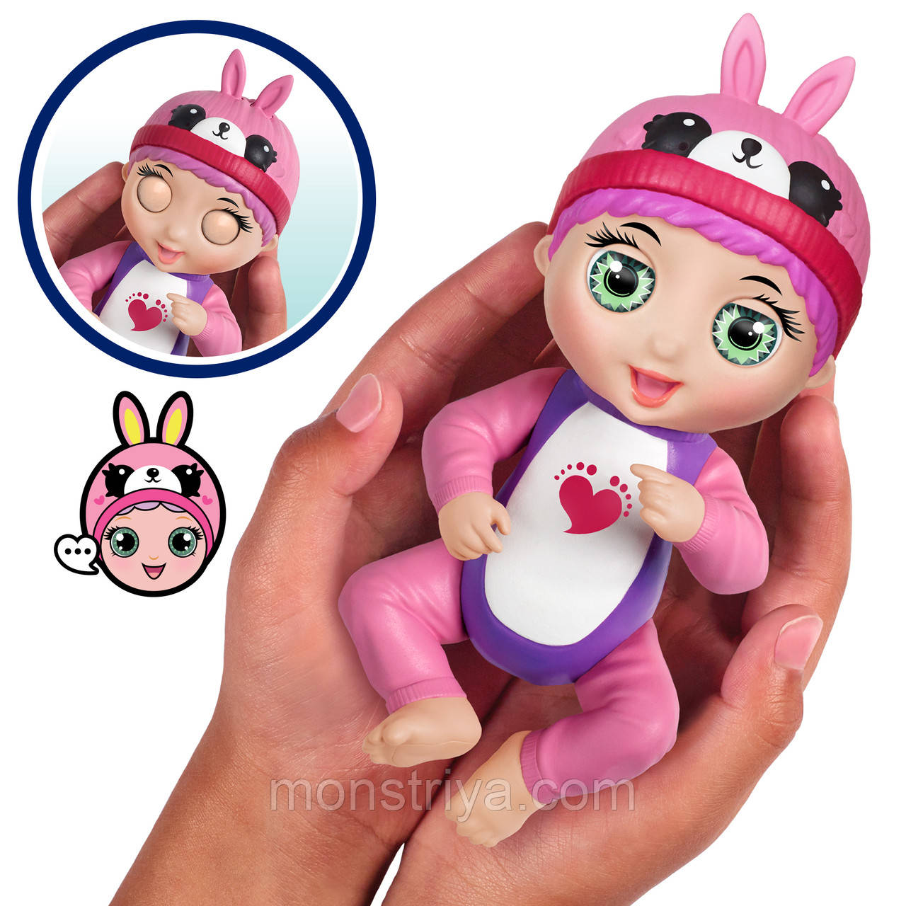 Интерактивная кукла-пупс Тини Тойс/ Tiny Toes Ticklish Tess Фингерлингс