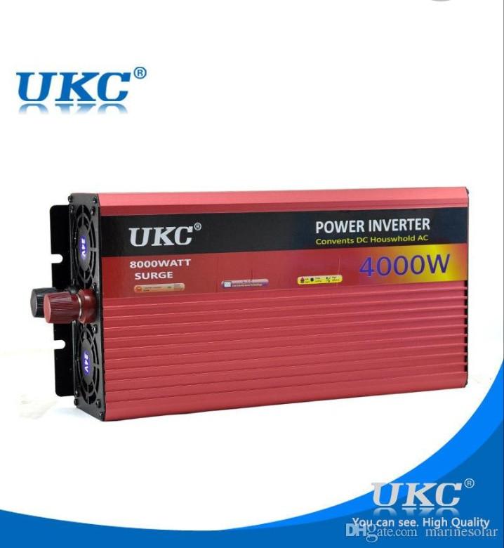 Преобразователь UKC 12V-220V 4000W, Инвертор, преобразователь, автомобильный инвертор
