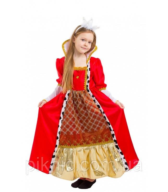 Костюм Королева 5,6,7,8,9,10 лет. Детский новогодний карнавальный костюм для девочки 344