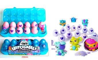 """Лоточок з вихованцями в яйці """"Hatchiмals"""" 12шт в наборі"""