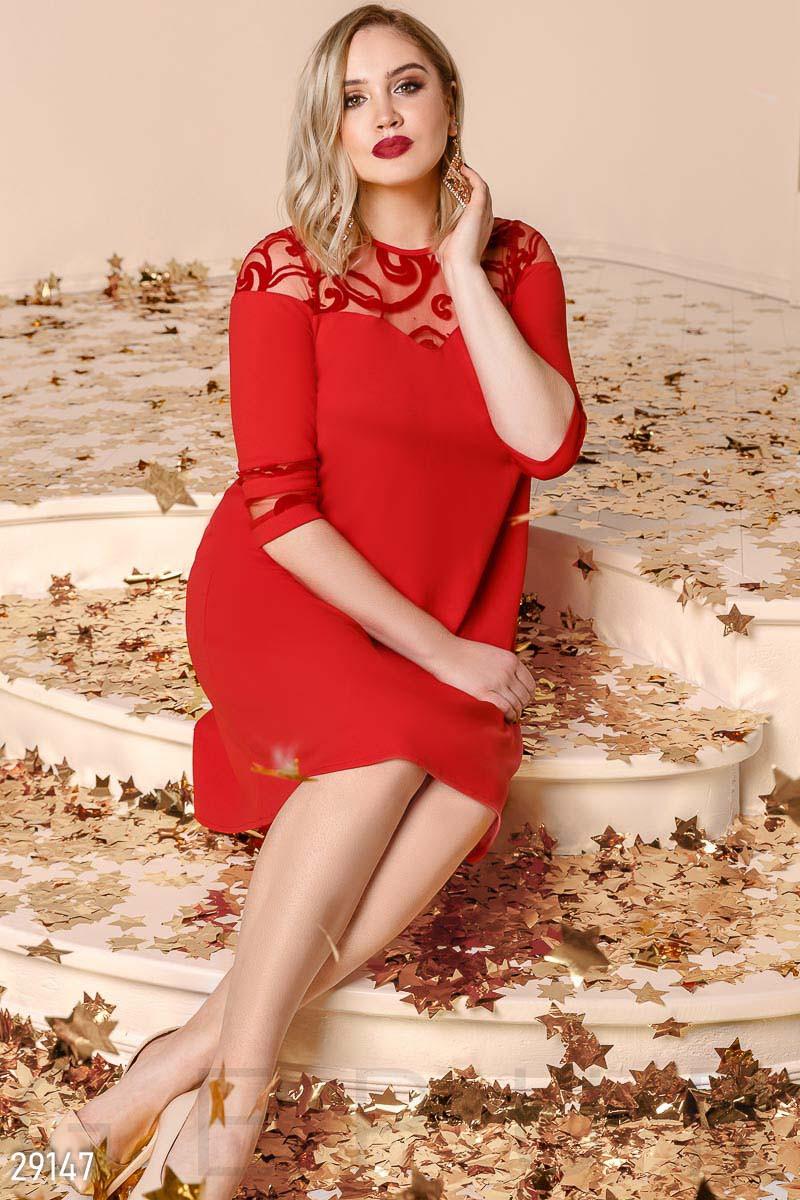 2c58100137a9fcc Яркое платье-миди А-силуэта больших размеров: продажа, цена в Одессе ...