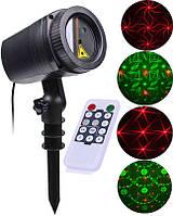 Уличный лазерный новогодний проектор MOVING GARDEN LASER LIGHT  ПУЛЬТ ДУ(видео)