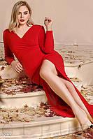 Торжественное платье-макси красного цвета больших размеров