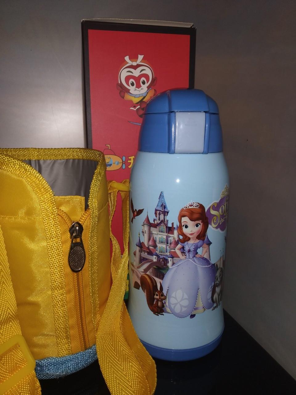 Термос детский питьевой с трубочкой и термочехлом Принцесса София 500 мл.