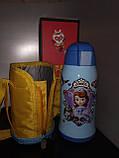Термос детский питьевой с трубочкой и термочехлом Принцесса София 500 мл., фото 4