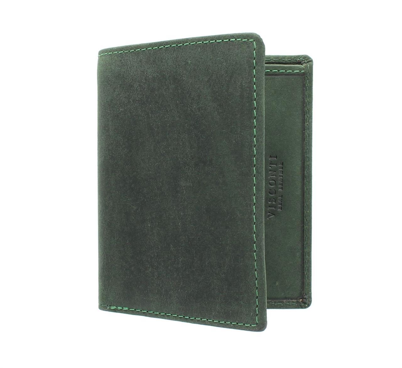 Мужской кошелек зеленого цвета Visconti 705 Oil Green (Великобритания)