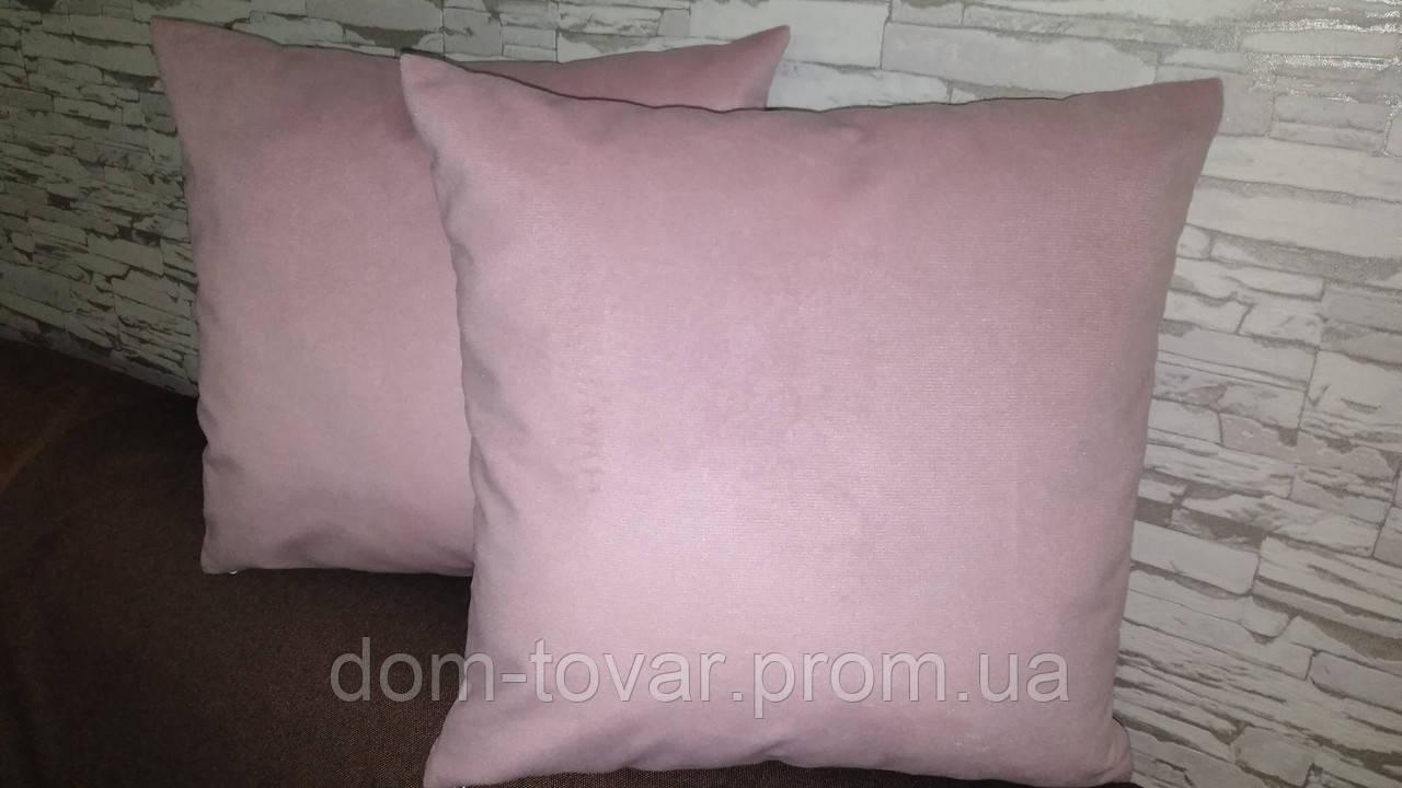 Наволочка декоративная 45х45 розовая
