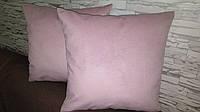 Наволочка декоративная 45х45 розовая, фото 1
