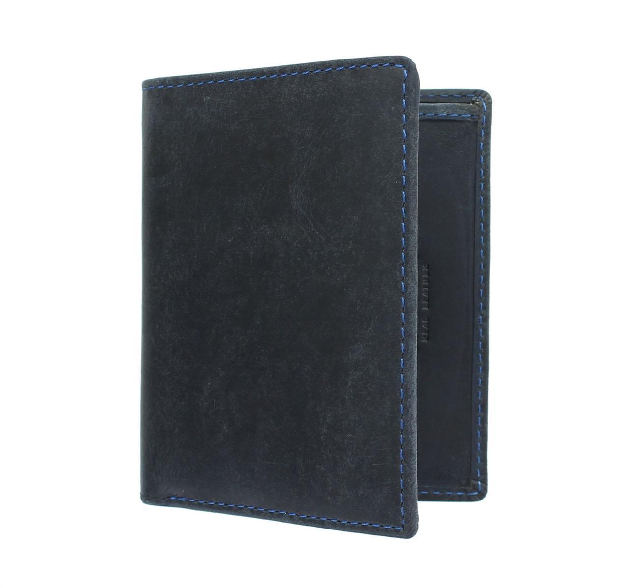 Синий кошелек из матовой кожи Visconti 705 Oil Blue (Великобритания)