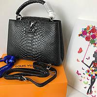 d69965e8173a Модная женская сумка LOUIS VUITTON CAPUCINES 27 см питон (реплика)