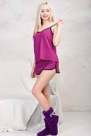 Женская пижама с шортами Sleep 1, фуксия