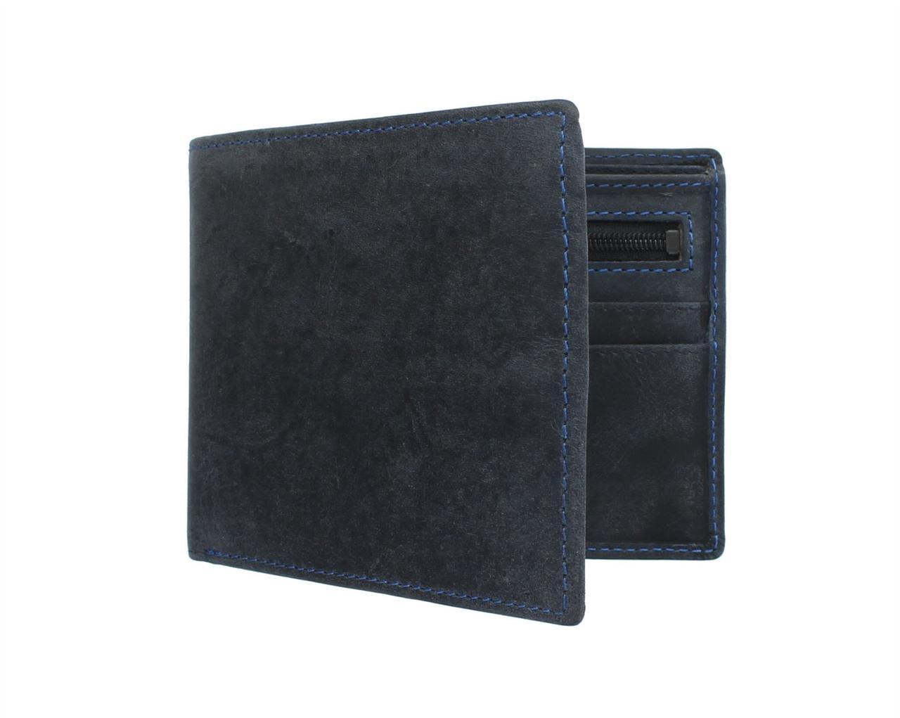Синий кошелек из матовой кожи Visconti 707 Oil Blue (Великобритания)