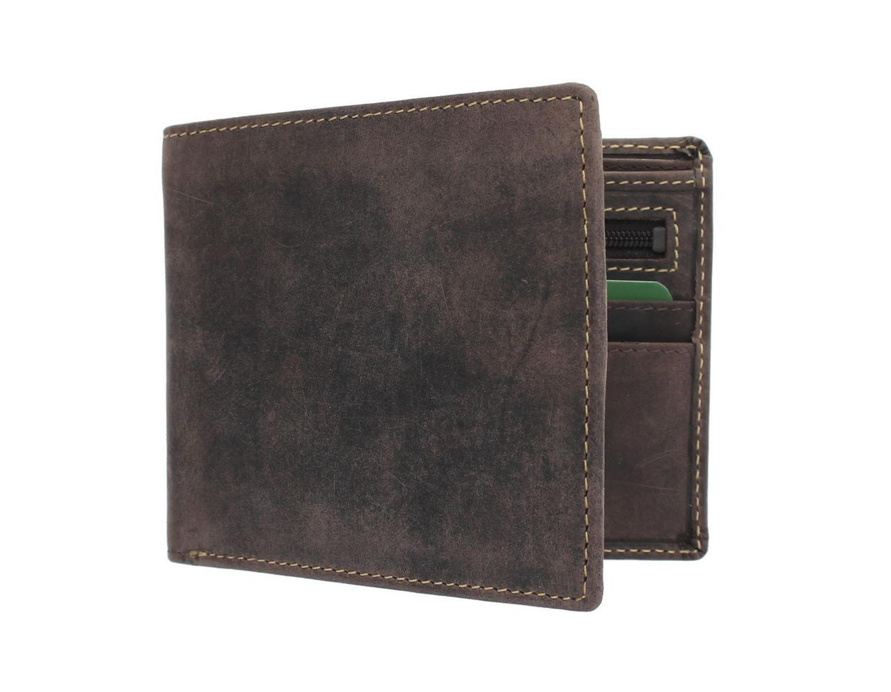 Мужской кошелек из матовой кожи Visconti 707 Oil Brown (Великобритания)