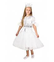 Костюм Сніжинка на 4-7років. Дитячий новорічний карнавальний костюм для дівчаток