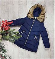 Пальто зимнее 66-295, холлофайбер, размеры 122-146 см