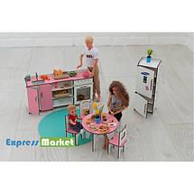 Мебель для кукольного домика Барби NestWood, бело-розовая (КУХНЯ), фото 3