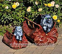 Садовая фигура подставка для цветов Саквояж большой и Саквояж малый