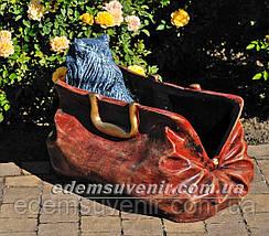 Садовая фигура подставка для цветов Саквояж большой и Саквояж малый, фото 3
