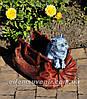 Садовая фигура подставка для цветов Саквояж большой и Саквояж малый, фото 5
