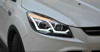Передние фары Ford Escape Kuga 2 тюнинг Led оптика