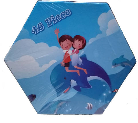 """Набор для детского творчества """"Дети на дельфине"""" (46 предметов) шестигранный CH-46, фото 2"""