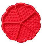 Силиконовая форма для выпечки вафель в виде Сердца, фото 2