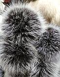Меховой помпон из шкуры песца 10-12 см, фото 2