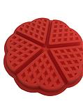 Силиконовая форма для выпечки вафель в виде Сердца, фото 3