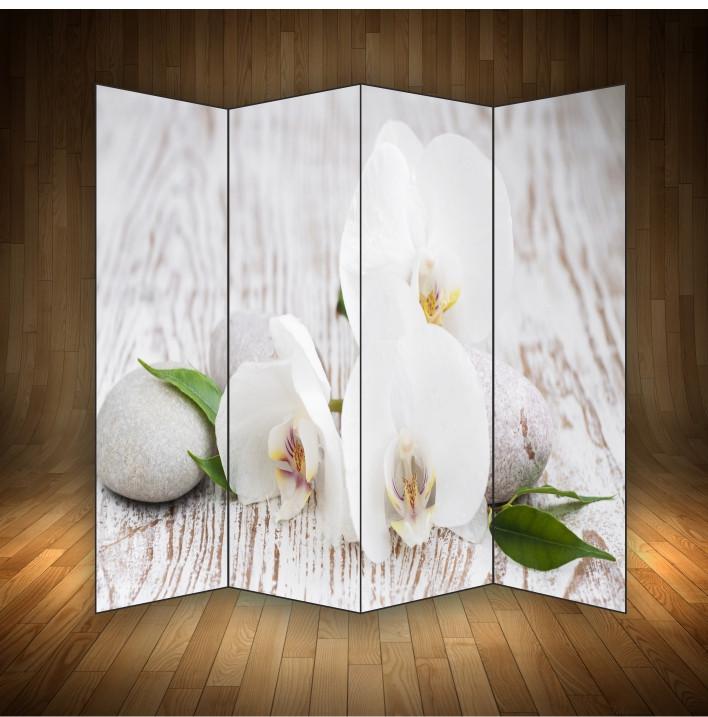 """Ширма декоративна """" Орхідеї білі"""""""