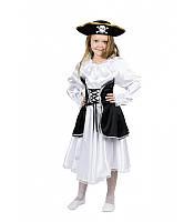 Карнавальный костюм Пиратка для девочки 4,5,6,7,8,9 лет. Детский новогодний маскарадный костюм