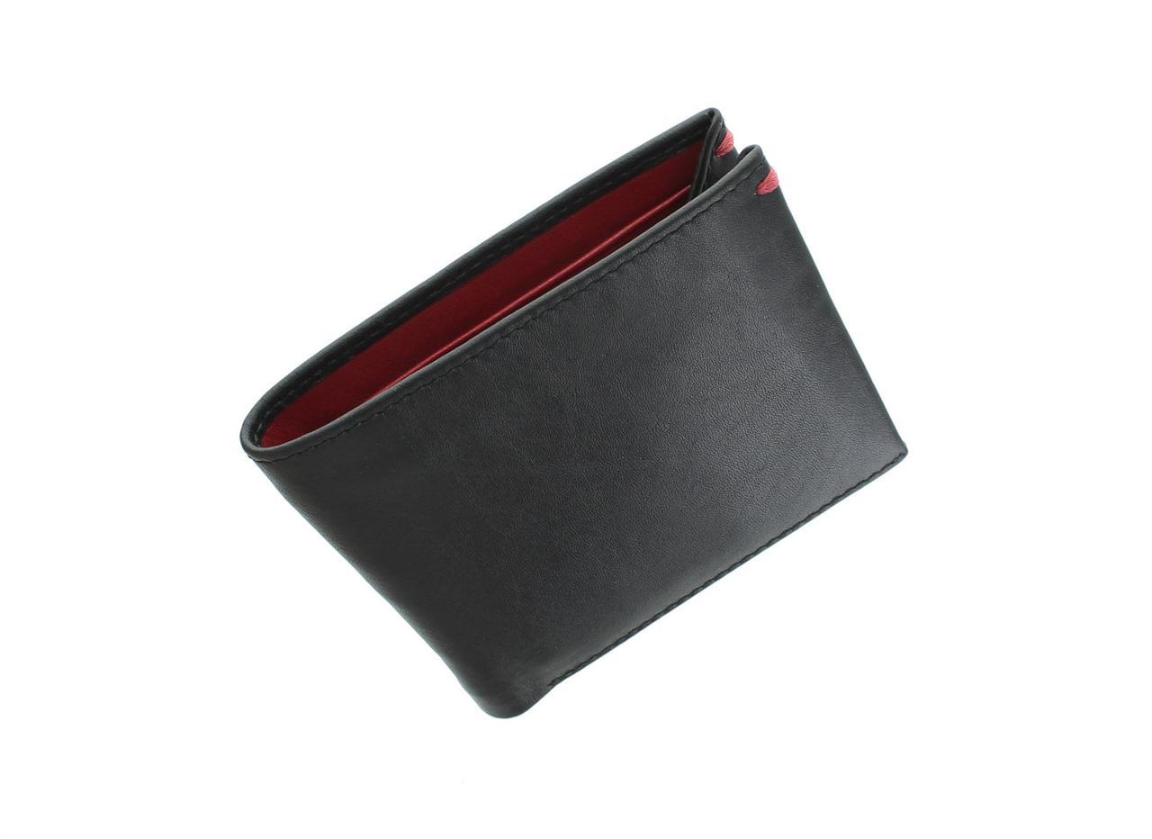Тонкое портмоне без монетницы Visconti VSL28 Black/Red (Великобритания)