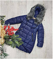 Пальто зимнее 16-27, холлофайбер 100%, размеры 134-158см