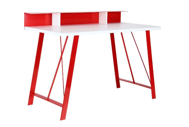 Компьютерный стол Mayakovsky красный/белый, TM AMF