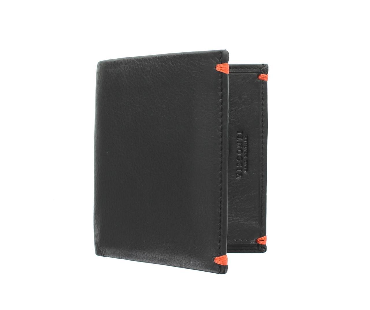 Кошелек из мягкой кожи Visconti AP61 Black/Orange (Великобритания)