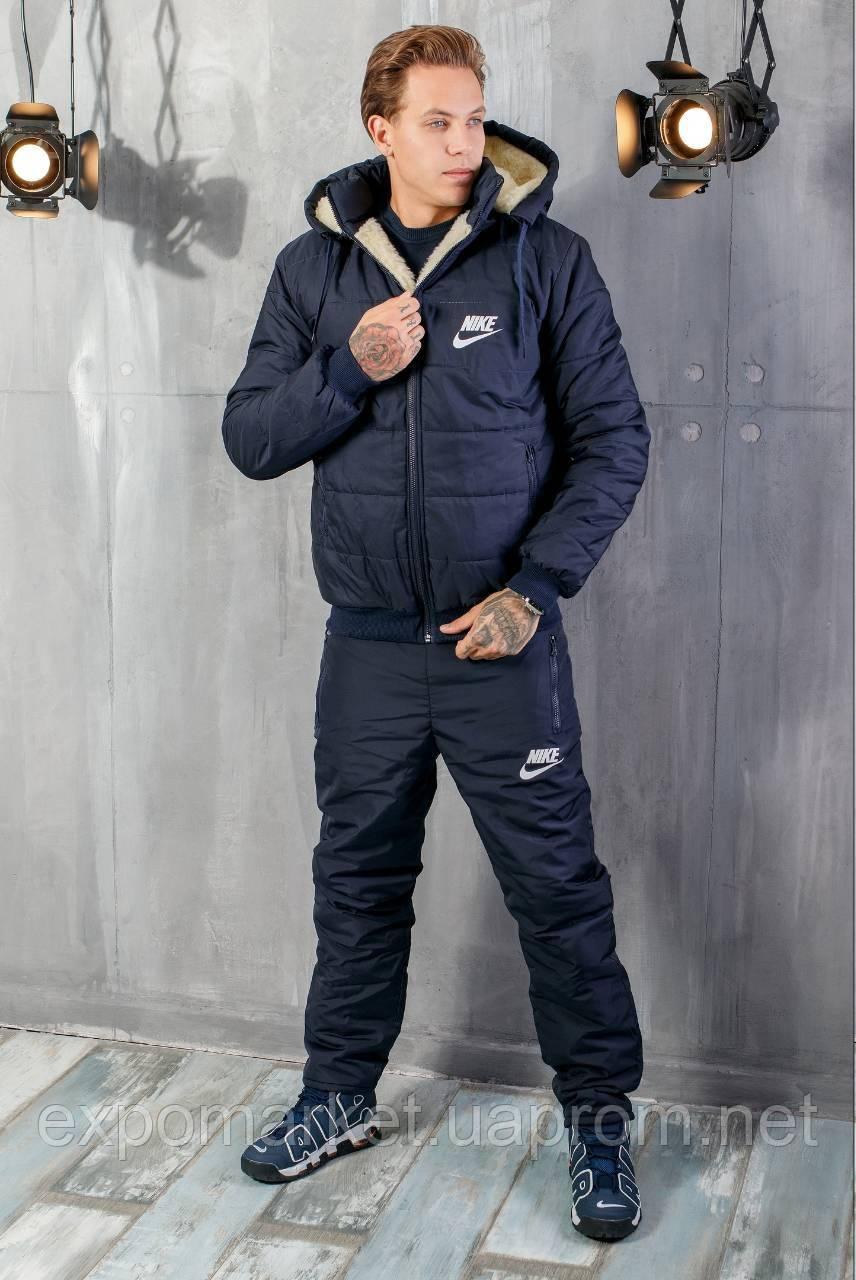 Зимний мужской костюм плащевка теплый