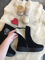 Женские зимние замшевые ботинки. 1019. Прямой поставщик. Дропшиппинг, фото 1