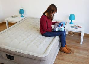 Надувне ліжко Intex 64458 (203х152х46 см)з електронасосом (203х152х46), фото 3