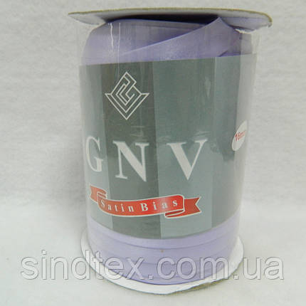 106 облямівки атласна (satin) GNV SQ, світла бузок, 144 ярду, фото 2