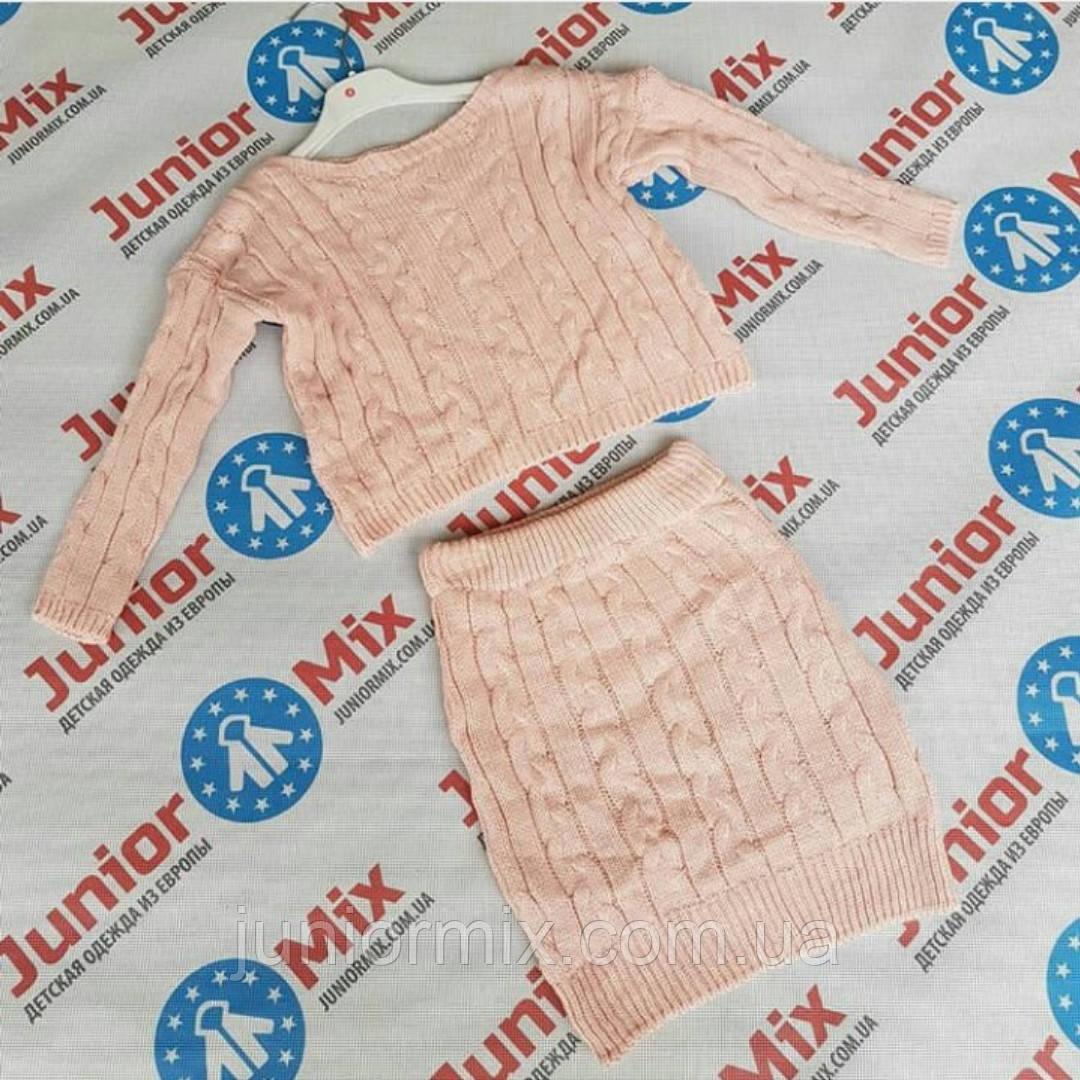 вязаный детский костюм для девочек оптом италия цена 450 грн