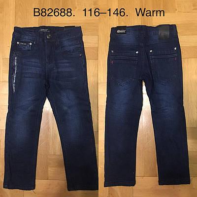 Брюки джинсовые утепленные для мальчиков Grace 116-146 р.р.