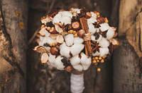 Зимний свадебный букет-оберег