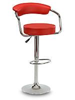 Барное кресло, хокер со спинкой SOHO красное