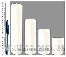 Свеча цилиндрическая, диаметр 6см,белая