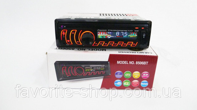 Автомагнитола 1DIN MP3-8506BT RGB Bluetooth