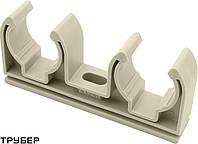 Крепление для полипропиленовых труб D 20 двойное  ASG