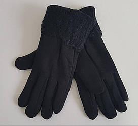 Сенсорные трикотажные перчатки черного цвета