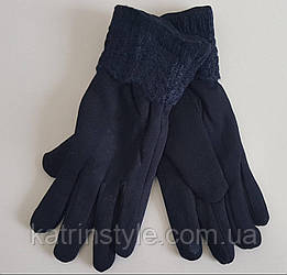 Теплые трикотажные перчатки сенсорные
