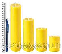 Свеча цилиндрическая, диаметр 6см, желтая