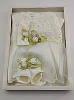 Набор для новорожденных 0-4 месяцев подарок, платье для новорожденного